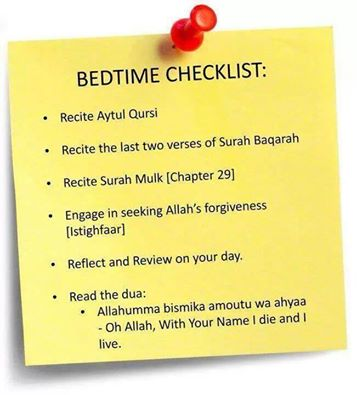 Sebelum tidur...? (Bedtime Checklist)
